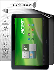 Celicious Privacy 2-Way Portrait Anti-Spy Filter Screen Protector Film Compatible with Acer Iconia Tab A210