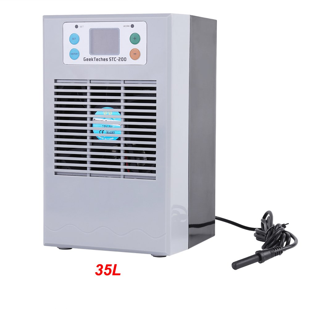 Fish Tank Water Heater,100-240V Fish Tank Water Cooling Heating Machine Thermostat Aquarium Aquaculture Uses (35L 100W)
