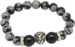Bracelet Made Of Obsidian And Onyx Stone, 20Cm, Unisex, Multi-Colors