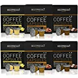 Bestpresso Coffee for Nespresso OriginalLine Machine 120 pods Certified Genuine Espresso Variety Pack Caramel,Vanilla&Chocolate, Pods Compatible with Nespresso OriginalLine