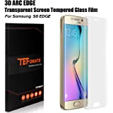 "Galaxy S6 Edge Protection écran, TEFOMATE® Verre Trempé Protecteur Tempered Glass Screen Protector pour Samsung Galaxy S6 Edge 5.1"" [Curved 3D] (Transparent)"