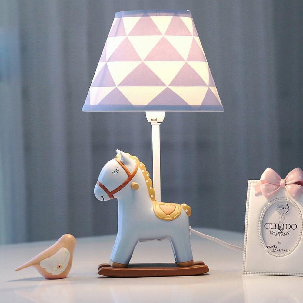 C Dimmschalter Pony dimmbare LED Tischlampe Schlafzimmer Nachttischlampe Warme Romantische Kreative Kinderzimmer Lampe Den