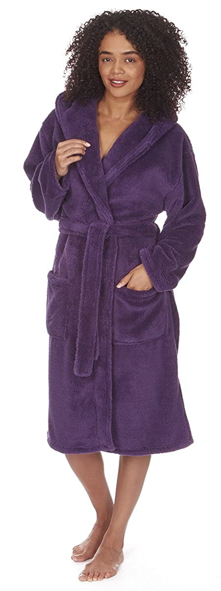 Forever Dreaming Ladies Snuggle Fleece Hooded Dressing Gown