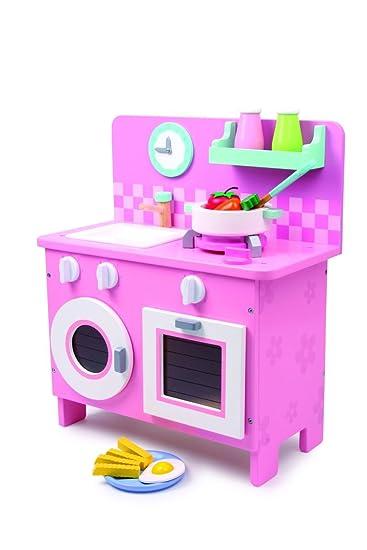 """Küche """"Rosali"""" aus Holz, in pastelligen Farben, mit allerlei ..."""