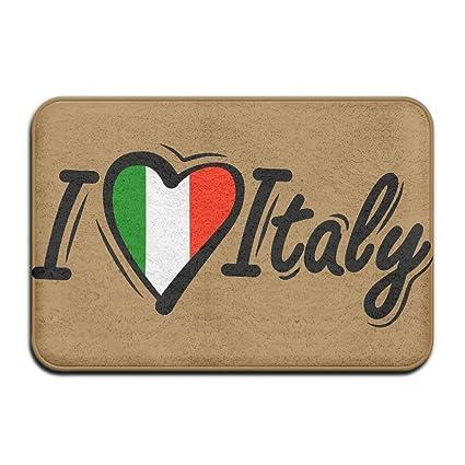 Amazon Nuohaoshangmao I Love Italy Italian Flag Non Slip