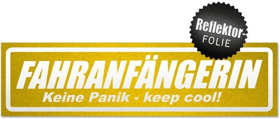 Kiwistar Fahranf/ängerin invertiert Magnetschild Schild magnetisch