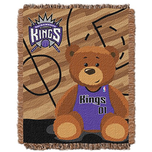 The Northwest Company Officially Licensed NBA Sacramento Kings Half Court Woven Jacquard Baby Throw Blanket, 36
