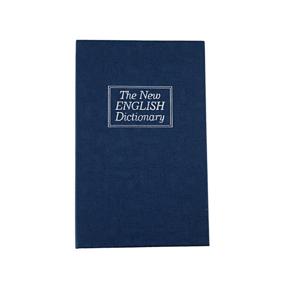 新しい到着ホット鋼シミュレーション辞書Secret Book Safeお金ボックスケースお金ジュエリー収納ボックスセキュリティキーロック B01M2CAAET