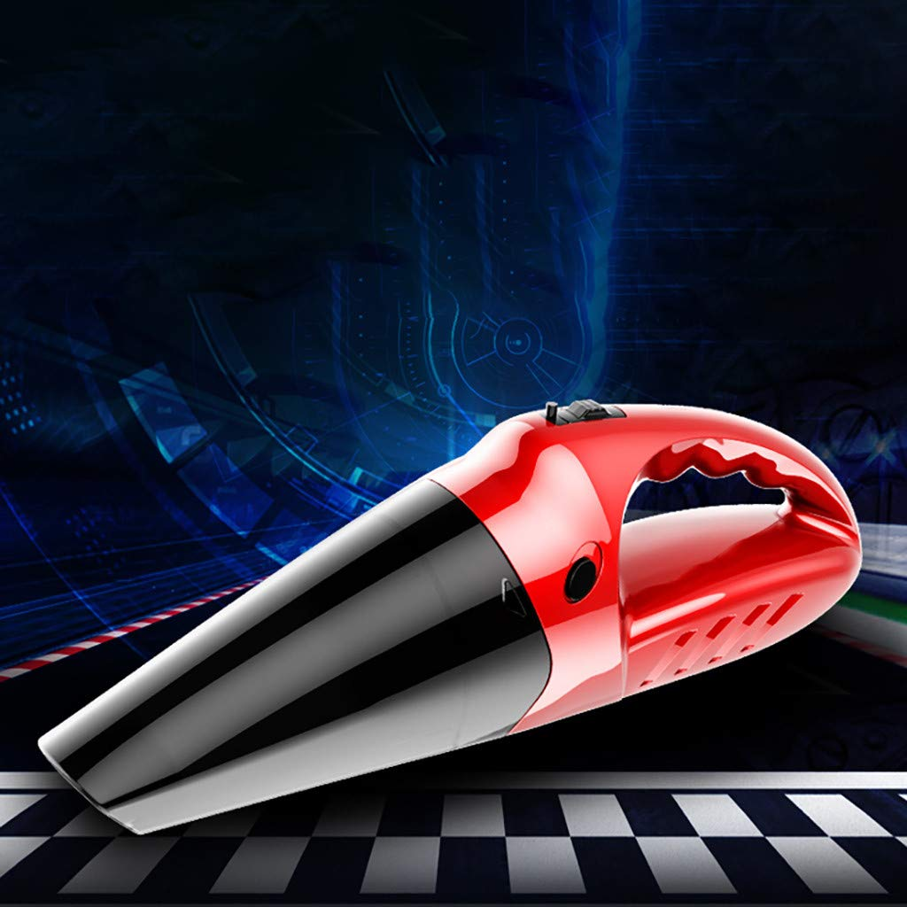 Car Vacuum Cleaner High Power Cordless, Portable Mini Smart Handheld Wireless Charging 4-in-1 Car Vacuum Cleaner (Red)