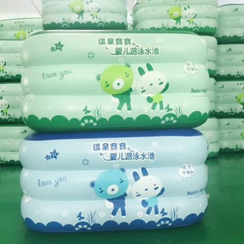 NiñoS De la Familia Rectangular Piscina para bebés, protección del Medio Ambiente, NiñoS, Inflable, Anillo, bebé, Piscina De Olas @ Piscina Inflable Verde