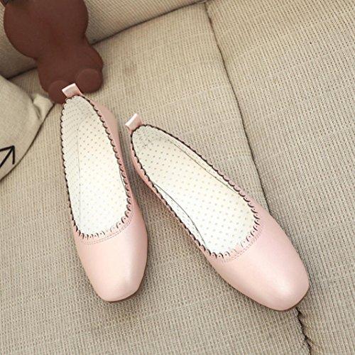 Saingace Frauen weiches Freizeit-flache weibliche beiläufige Schuhe Tanzschuhe Erbsen-Schuhe Rosa