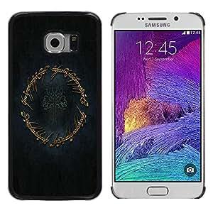 LECELL -- Funda protectora / Cubierta / Piel For Samsung Galaxy S6 EDGE SM-G925 -- The Ring --