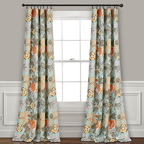 Lush Decor Sydney Room Darkening Window Curtain Panel Pair, 84