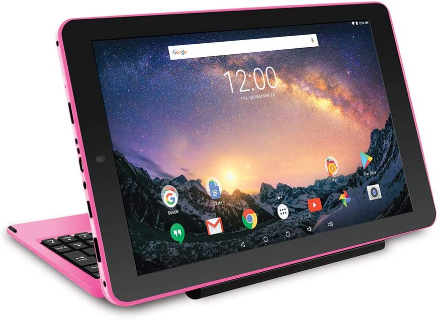 "2018 Newest Premium High Performance RCA Galileo 11.5"" 2-in-1 Touchscreen Tablet PC Intel Quad-Core Processor 1GB RAM 32GB Hard Drive Webcam WiFi Bluetooth Android 6.0-Pink"