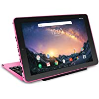 """2018 RCA Galileo Pro 2-in-1 11.5"""" Touchscreen High Performance Tablet PC, Intel Quad-Core Processor 32GB SSD 1GB RAM WIFI Bluetooth Webcam Detachable Keyboard Android 6.0 Pink"""