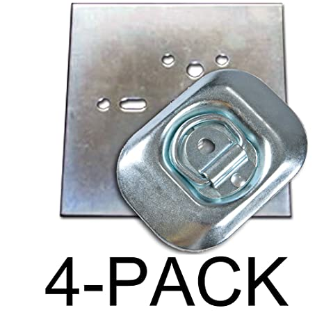 Surface Mount D-Ring 6,000 lb Capacity Tiedowns 8-Pack Stainless Steel Tie Down