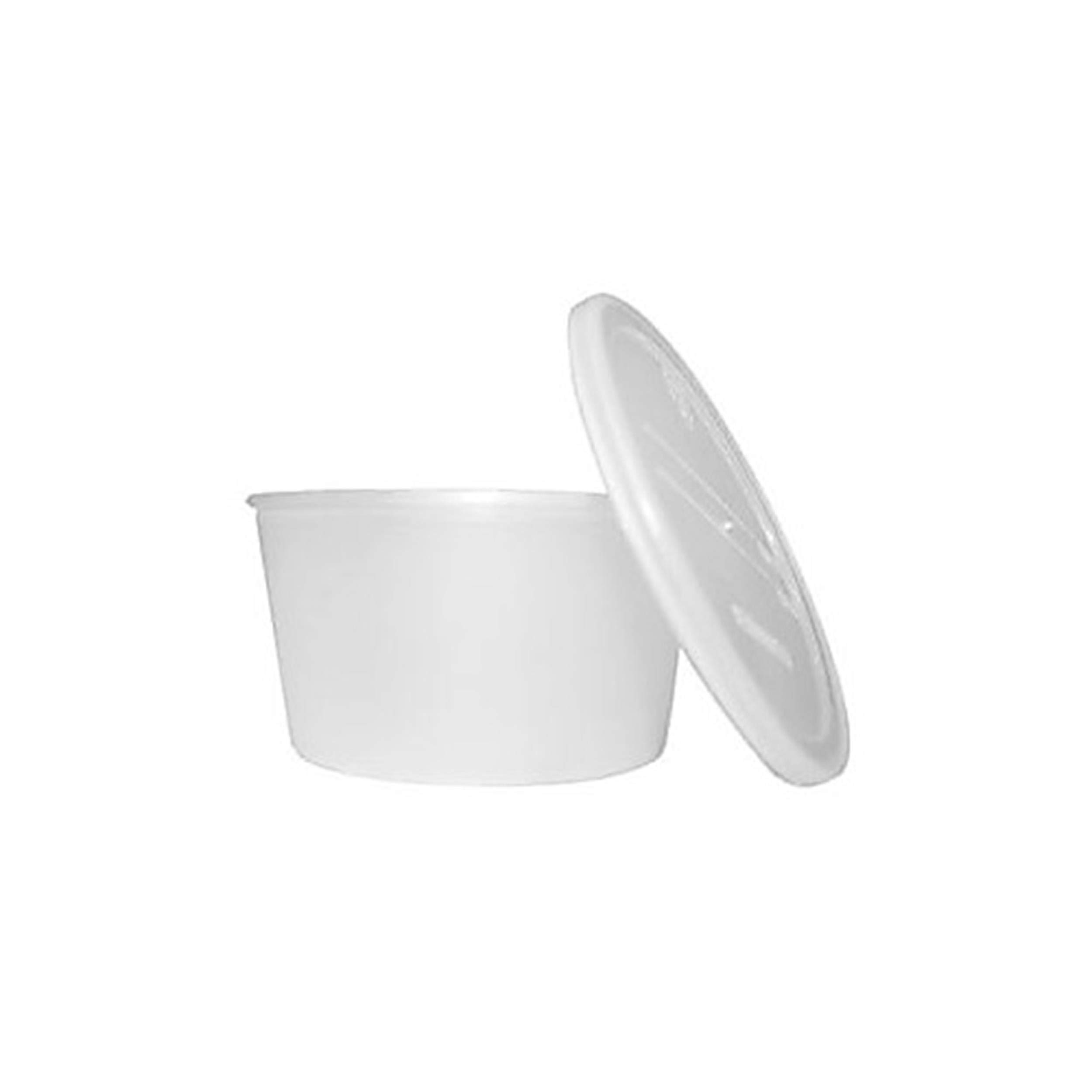 Dukal DUK DCPC Dawnmist Denture Cup with Caps, Translucent (Pack of 250) by Dukal