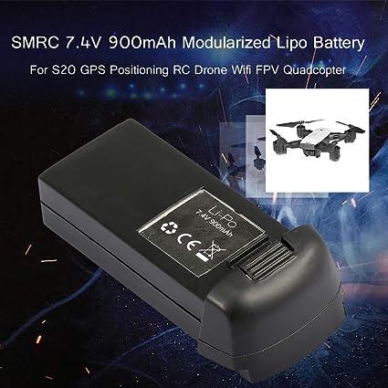 JSMeet 7.4V 900mAh batería lipo Modular para SMRC S20 GPS RC Drone ...