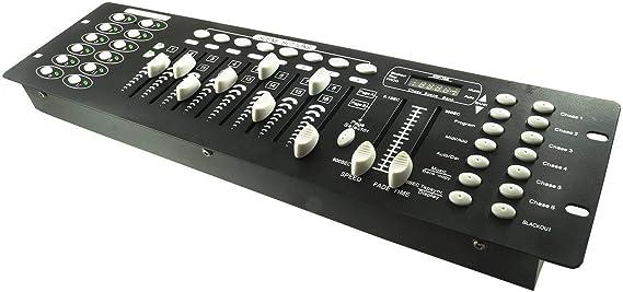 Control de luces de disco con efectos DJ, 192 canales DMX 512 ...