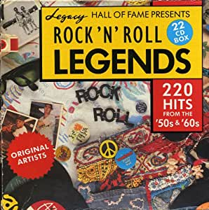Rock 'N' Roll Legends - 220 Hits From The '50s & '60s - CD Box Set - Legacy Hall of Fam Presents