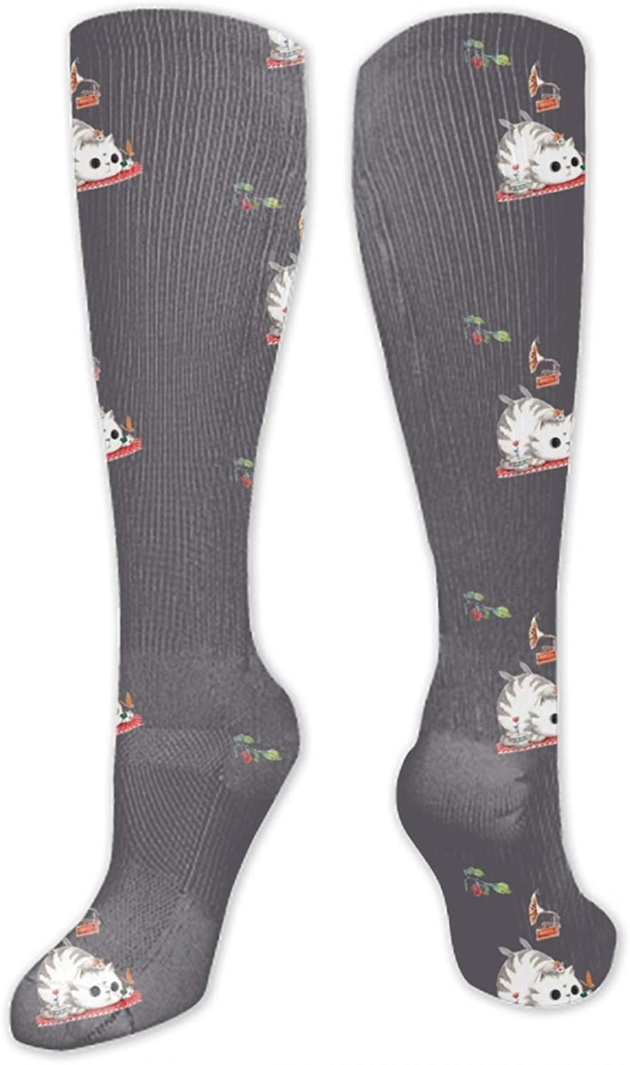 Black And White Puffin Bird Men /& Women Art Patterned Casual High Socks
