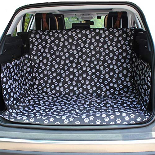 HCMAX Dog Vehicle Cargo Liner Cover Pet Seat Cover Bed Floor Mat Nonslip Waterproof Universal for Car SUV Truck Jeeps Vans Paw Prints by HCMAX (Image #10)