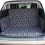 HCMAX Dog Vehicle Cargo Liner Cover Pet Seat Cover Bed Floor Mat Nonslip Waterproof Universal for Car SUV Truck Jeeps Vans Paw Prints