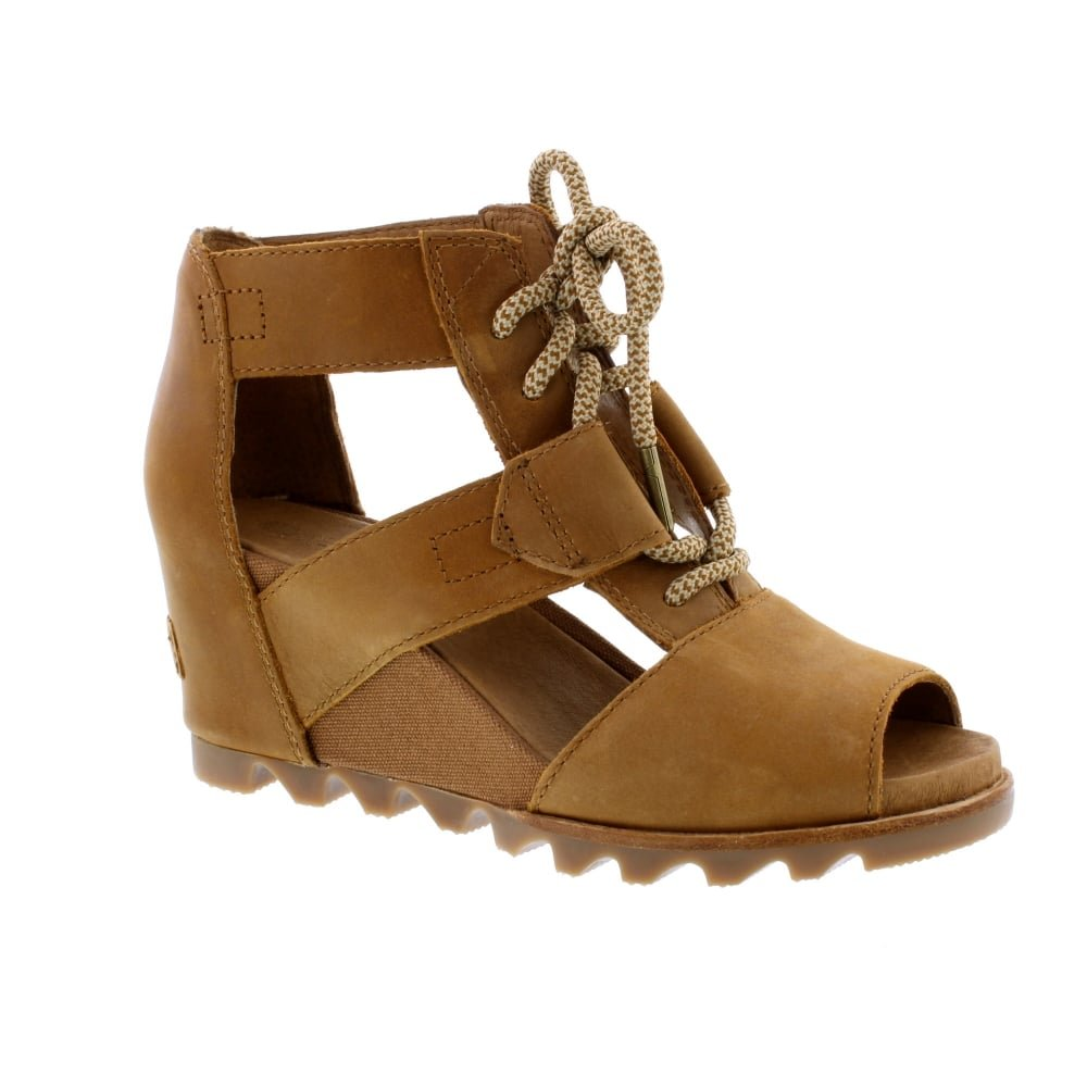 SOREL Women's Joanie Lace Sandals, Camel Brown, 10 B(M) US