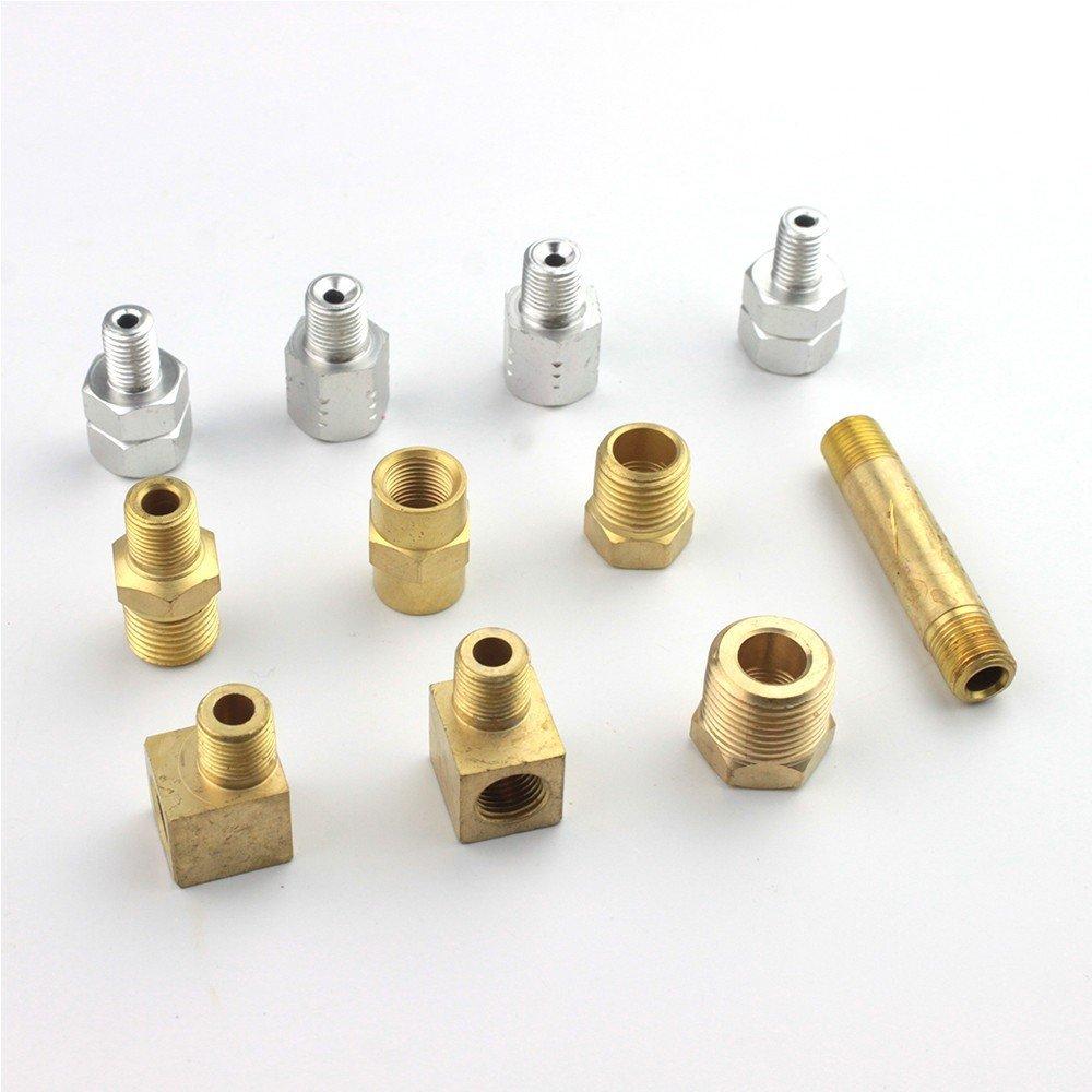 14 piece Engine Oil Pressure Tester Test Gauge Diagnostic Test Tool Set Kit by Jecr (Image #5)