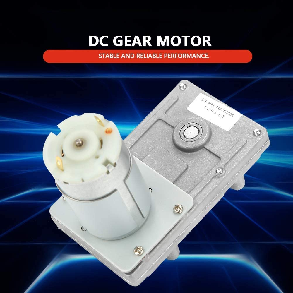 555 Metal DC Low Speed Motor for Electric Game Player 12-24V 45-90rpm Geared Motor
