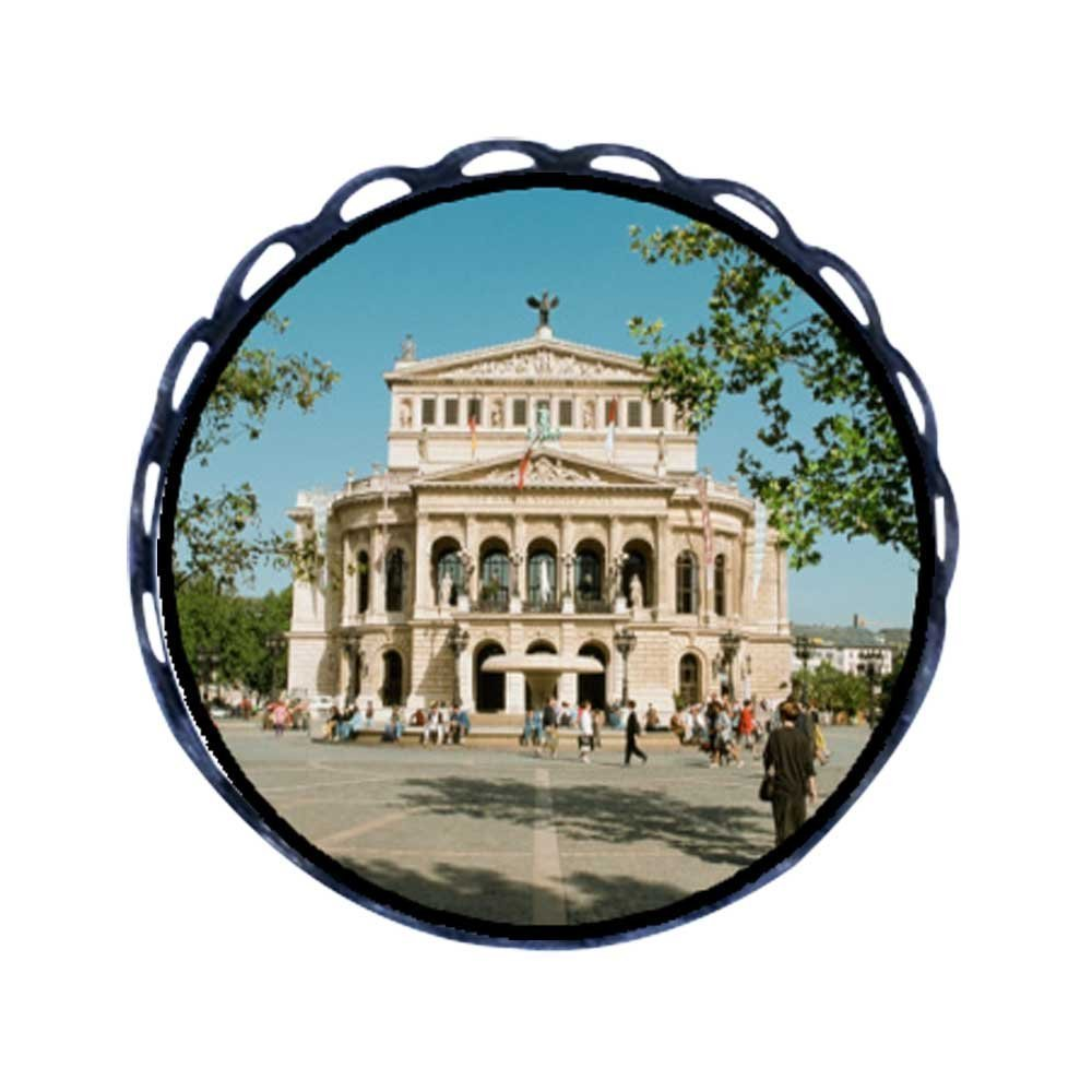 GiftJewelryShop Ancient Style Travel Old Opera House Frankfurt Germany Round Pin Brooch