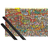 Poster + Hanger: Virtual Art Poster (36x24 inches) Toys, Toys, Toys, Where's Wally? And 1 Set Of Black 1art1® Poster Hangers