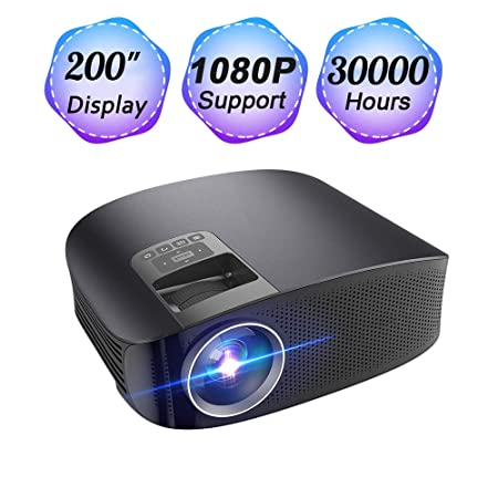 Proyector LCD portátil para el hogar 1080P, mini proyector ...