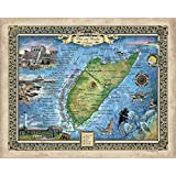 Florida Map Fort Myers.Amazon Com Great River Arts The Lee Island Coast Florida Fort