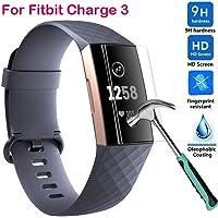 Cooljun Film de protection pour Fitbit Charge 3, d'écran à Pleine Couverture en TPU HD 9H antidéflagrant