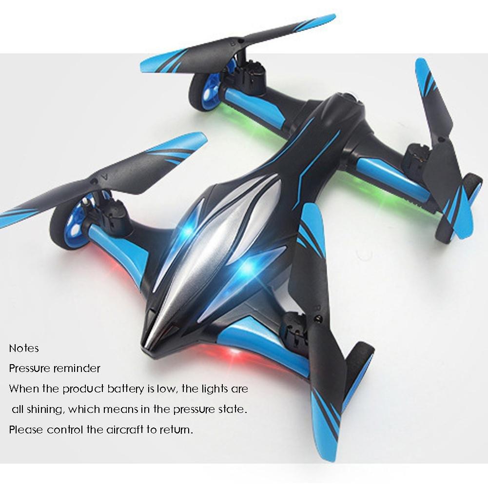 Avión de control remoto JJRC Drone Avión de modo dual terrestre y ...