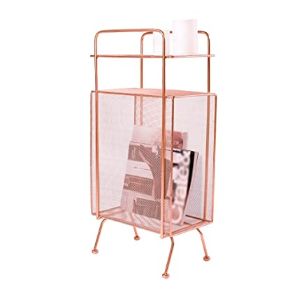 Amazon.com: MDBLYJ Storage Shelf Floor Magazine Shelf ...
