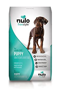 Nulo Puppy Food Grain Free Dry Food with BC30 Probiotic and DHA, Turkey & Sweet Potato or Salmon & Peas Recipe - 4.5, 11, or 24 lb Bag
