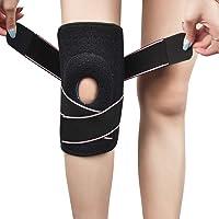 Knie Support Brace, Open-Patella Gel Pads Knie Brace, Verstelbare Knie Ondersteunt Met Zijstabilisatoren, Ademende Knie…