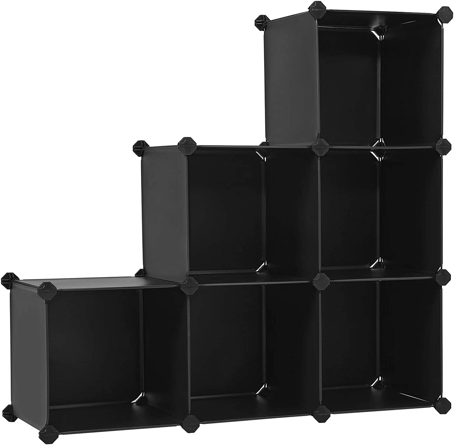 Amazon Com Songmics Cube Storage Organizer 6 Cube Closet Storage Shelves Diy Plastic Closet Cabinet Modular Bookcase Storage Shelving For Bedroom Living Room Office Black With Rubber Hammer Black Ulpc06h Home Kitchen