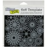 Crafters Workshop Template, 6x6-Inch, Flower Frenzy