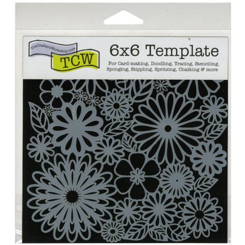 Price comparison product image CRAFTERS WORKSHOP TCW157S Template,  6 by 6-Inch,  Flower Frenzy