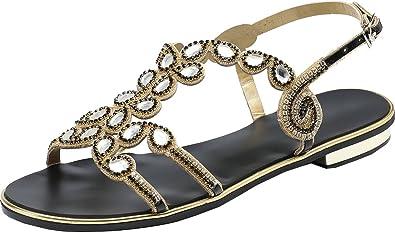 Vimedea Womens Comfort Flat Open Toe Party Sandals Wedding Dress Bride Prom ZXL007