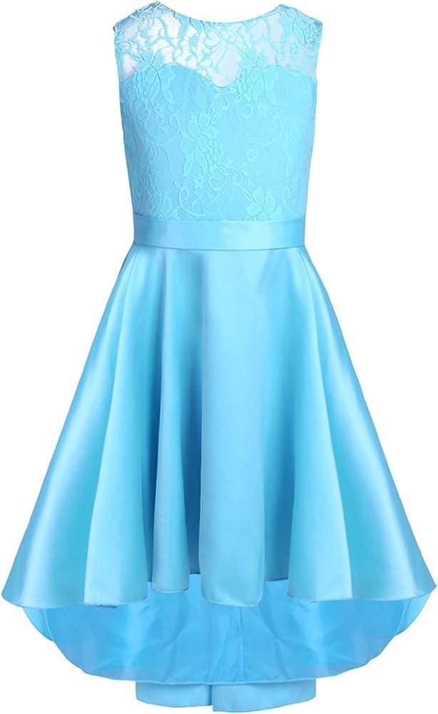 YiZYiF Vestido de Boda Ceremonia para Niñas Vestidos de Princesa ...