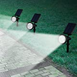 [Upgraded 200 Lumens]Led Solar Lights, Mpow Soleil P2 Waterproof Solar Spotlight / Solar Powered Outdoor Wall Light Landscape Lighting Security Lights 180°angle Adjustable, Auto On/Off for Garden, Outdoor, Lawn, Backyards, Outside Wall etc. Bild 6