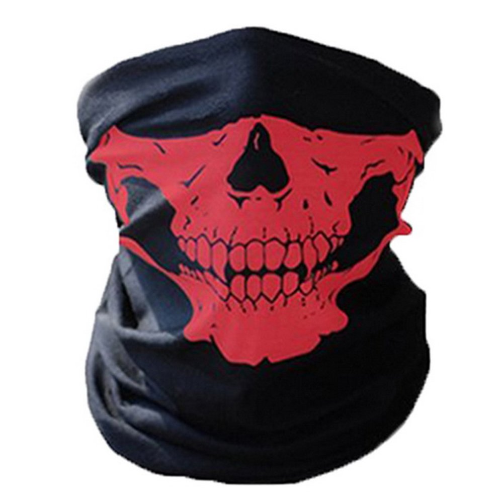 AOYOMO Outdoor Sport Skull Print Windproof Face Mask Scarf Hat Headwear 180702HH038