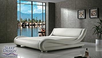 Madrid Award Winning Designer Bed White Faux Leather King Size - Award winning bedroom designs