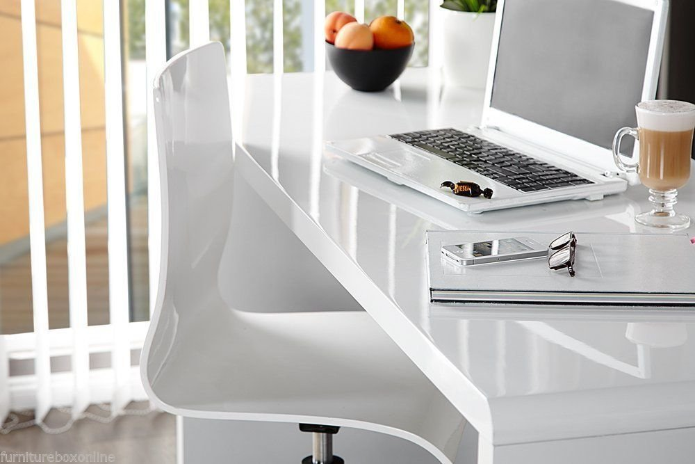 Awesome ENZO White High Gloss Computer PC Home Executive Study Office Corner Desk:  Amazon.co.uk: Kitchen U0026 Home
