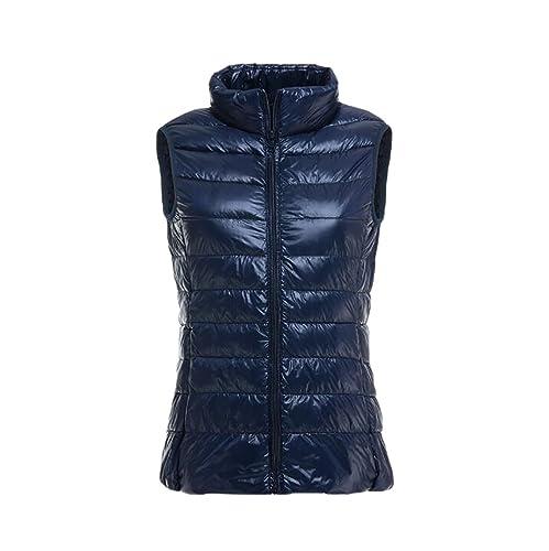 YOUJIA Ligero Chalecos exteriores para Mujeres - Chaqueta de pluma - Cálido Abrigo de Invierno