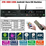 5TB HDD, 100K Chinese+English Karaoke Songs, Android HDD Karaoke Player/Jukebox,Cloud Download,ECHO Mixing,DVD Driver.Songbook And Remote Contoller Included,